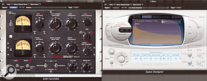 The drum kit sounds were controlled and sweetened using a combination of the Universal Audio Fairchild compressor plug-in and Logic's Space Designer convolution reverb, with a little low-end cut on the reverb to keep things clean.