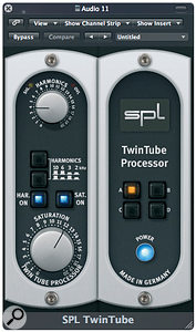 More appropriate vocal distortion was added using SPL's TwinTube plug-in.