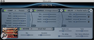 The new effects section is highly configurable, sounds great, and includes a decent convolution reverb.