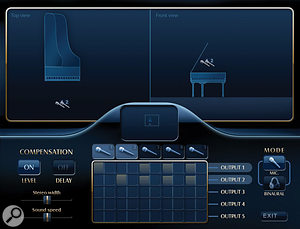 The mic positioning features let you find multiple audio perspectives for your pianos, but some settings seem to make the resulting sound atouch artificial.