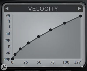 The Velocity panel lets you fine-tune Pianoteq's response to your controller, via an editable graph or a guided Calibration routine. Setups can be saved and recalled too. In the same panel you can also tailor note-off velocity behaviour (if your controller generates it), and continuous damper pedal response, to support half-pedalling. There's even aftertouch response, and it's polyphonic, but it's only there to support the very specialist 'bebung' vibrato that's possible on clavichords.