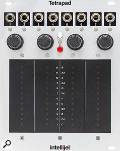 Intellijel Tetrapad: 20HP. +12V 130mA, -12V 15mA.