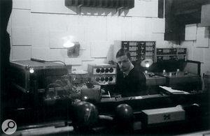 Liam Watson in the Toe Rag control room.