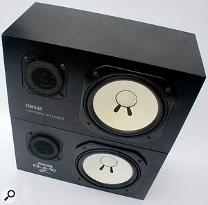 The Yamaha NS‑10, and its modern‑day recreation the Avantone CLA‑10 (bottom), both benefit from the tight bass response of a sealed cabinet.