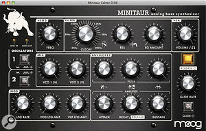 All of the Minitaur's front panel controls (except the Fine Tune knob) respond to MIDI CC numbers and can be edited via the Minitaur Editor software...