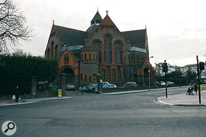 AIR Lyndhurst studios, Hampstead, where most of the orchestral sessions for the second and third series of Doctor Who took place.