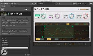 Komplete 10's new Kontour synth.