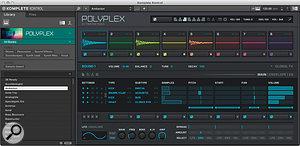 The Polyplex drum machine, also new in Komplete 10.