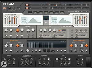 One of the newly bundled offerings, Prism is a  powerful digital synth.
