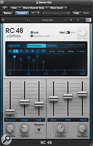RC48 features six distinct early reflections or 'pre-echoes' which can be positioned by the user.
