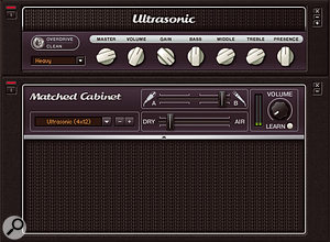 Ultrasonic is a versatile high-gain amp for metal and modern rock sounds.