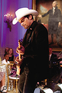 Brad Paisley's distinctive Telecaster style has taken the country music scene by storm (not to mention the White House, where this shot was taken).
