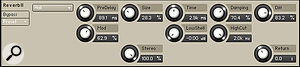 The parameters for Reverb II's Hall and Room algorithms include Size, Time, Diffusion amount and Modulation depth.