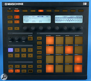 Measuring 320 x 295mm, the Maschine hardware control surface is about the size of avinyl record sleeve.
