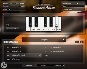 The Auto Chord option makes it even easier to play Strummed Acoustic.