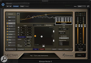 Advanced mode lets you edit the parameters of an individual module in more detail. This is the new Harmony module.