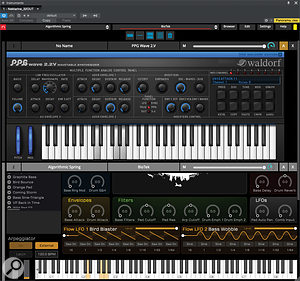 Nektarine with two instrument slots loaded — PPG Wave 2.2 is available for editing from T4 and/or the mouse and keyboard.