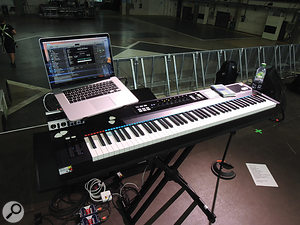 Gillian Gilbert's keyboard rig.