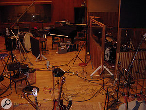 For the recording of the Bad Seeds' <em>Abbatoir Blues/The Lyre Of Orpheus</em>, Launay set up all the band's gear in the large room at Ferber Studios in Paris, ready to record anything and everything they came up with.