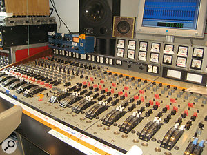 The EMI 'Red' desk at State Of The Ark studios, where Nick Cave's most recent album was recorded in four days.