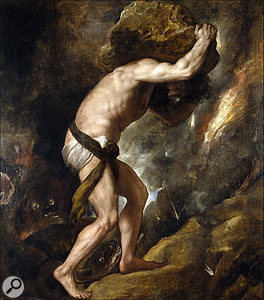 Sisyphus's new career made a welcome change from bouncing out stems.