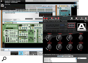 When you use Automap, the mapping of the Impulse's controls to DAW parameters is detailed in anotification window (top left) and an optional floating Mapping Editor. Multiple 'pages' of parameters are available for more complex plug-ins. Here you can also configure the Impulse's bank of faders and buttons, which are ideally suited to mixer control. Aclever fader-scaling pick-up system is used to avoid abrupt jumps when physical fader positions don't match on-screen level or pan values — the next best thing to motorised faders.
