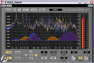 Drawing in a suitable EQ curve using SEQ2 is easy and painless, while the integral spectrum analyser helps you spot problem areas that need treating.