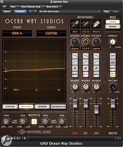 As well as the high- and low-pass filters on each microphone group, Ocean Way Studio also features master EQ.