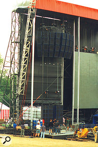 The front–of–house setup was mainly comprised of Turbosound Flashlight speakers — and set up without the aid of computers or software!
