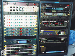 The insert and effects racks (left and right, respectively).