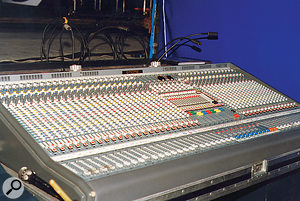 One of the many Midas analogue consoles that the show was mixed on.