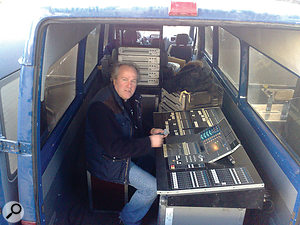 Gareth Williams, who mixed the monitors for the Knebworth show.