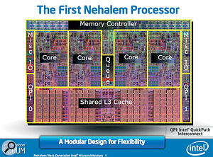 With its integral Memory Controller, four physical cores, and HyperThreading taking the total virtual core count to eight, Intel's new Nehalem CPUs are poised to provide superb audio performance.