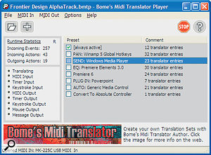 Fancy using your existing MIDI controller to control media players, Powerpoint presentations, edit your videos, and be in charge of your live setup? Enter Bome Software's MIDI Translator.