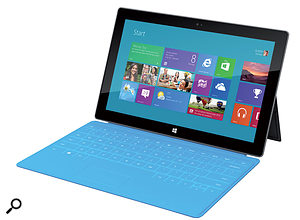 With alarger yet slimmer screen than the iPad and an array of colourful keyboard options, Microsoft's Surface could be amajor player on the tablet scene.