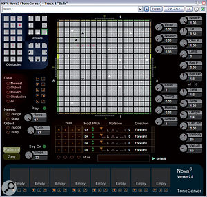 ToneCarver's freeware Nova3 is, at its heart, agenerative MIDI sequencer inspired by the famous Otomata on-line music instrument, in turn inspired by Conway's Game Of Life.