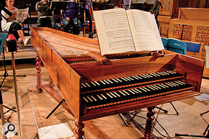 Period instruments employed on the St John Passion recording included this fine harpsichord, a close recreation of Bach's own instrument.