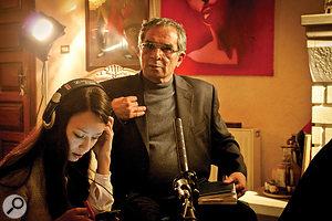 Joanna Natasegara with Bassam Abu Sharif, whose near-deafness made for achallenging interview.