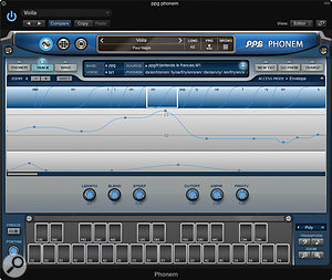 Via the pitch and control tracks you can add natural-feeling modulation to each phrase.
