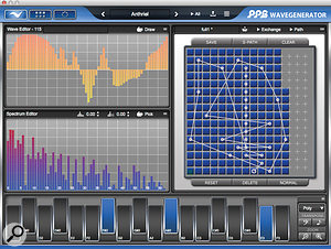 Plot any path you like through the wavetable.