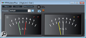 PPMulator provides a very clear emulation of the classic BBC PPM meter.