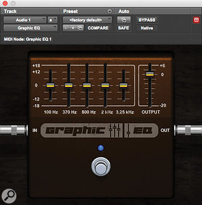 The Graphic EQ plug–in is freely downloadable from the Avid Marketplace.