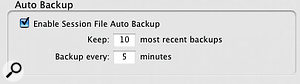 Backing Up & Archiving Sessions