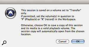 """But it was fine last time I tried it..."" One of Pro Tools' more familiar error messages."