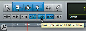 Many Pro Tools users perhaps don't realise that it's possible to make different selections in the timeline and in the Edit window.