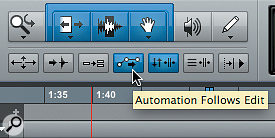 If your automation isn't moving when you move clips, be sure to enable this button.