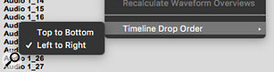 Importing audio via the Clip List gives you this additional option as to how it should be placed on the timeline.