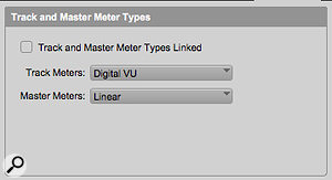 You can choose a separate meter type for Master Faders.