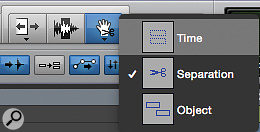 Screen 1. The three Grabber modes: Time, Separation and Object.