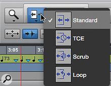 Screen 4: The alternative Trim tool modes.